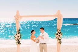 ślub w zatoce wraku na zakynthos