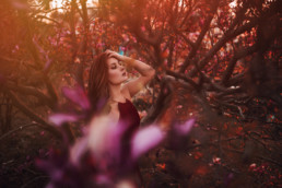 2 sesja fotograficzna w kwiatach magnolii 5 uai