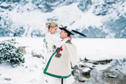 zimowa sesja ślubna w tatrach