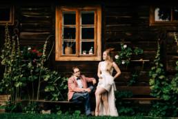 rustykalna sesja ślubna