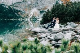 sesja ślubna nad morskim okiem